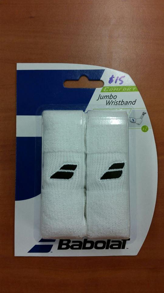 Babolat_Jumbo Wristband_Wht